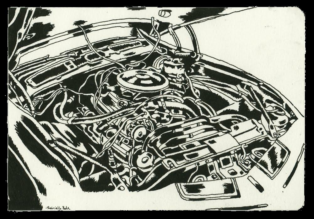 Car Engine Drawing Show | Drawn & Quarterly