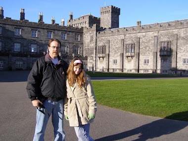 Heather and I in Ireland at Kilkenny Castle