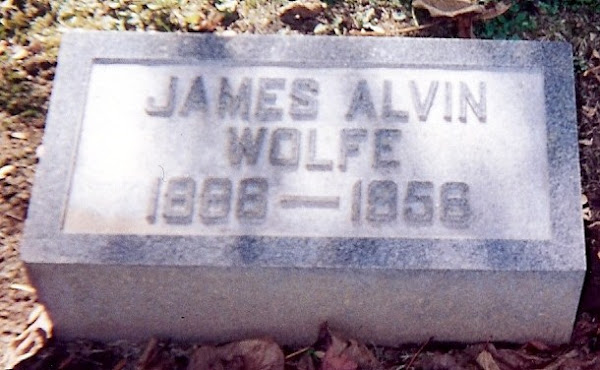 James Alvin Wolfe's stone