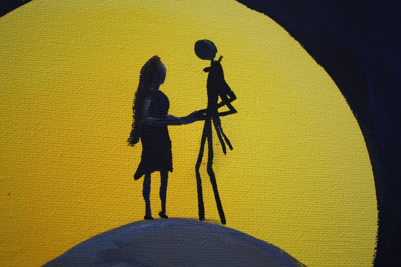 nightmare before christmas painting