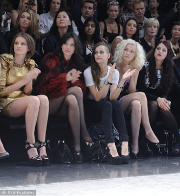 Alice Dellal Portia Freeman and Peaches Geldof on the front row at