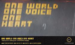 Il mio messaggio di pace stampato sulle strade del Tour de France 2010