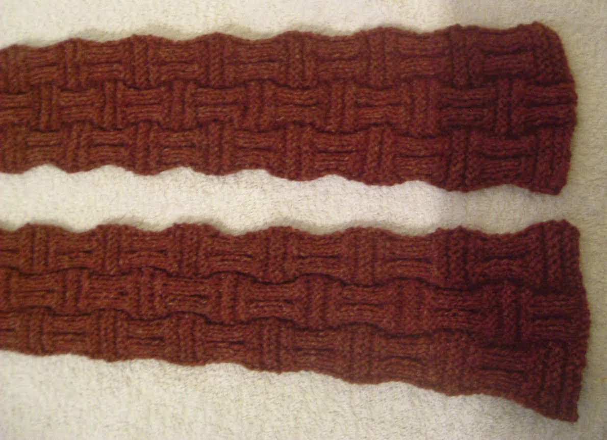 Stitch In Time: Double Basket Weave Scarf