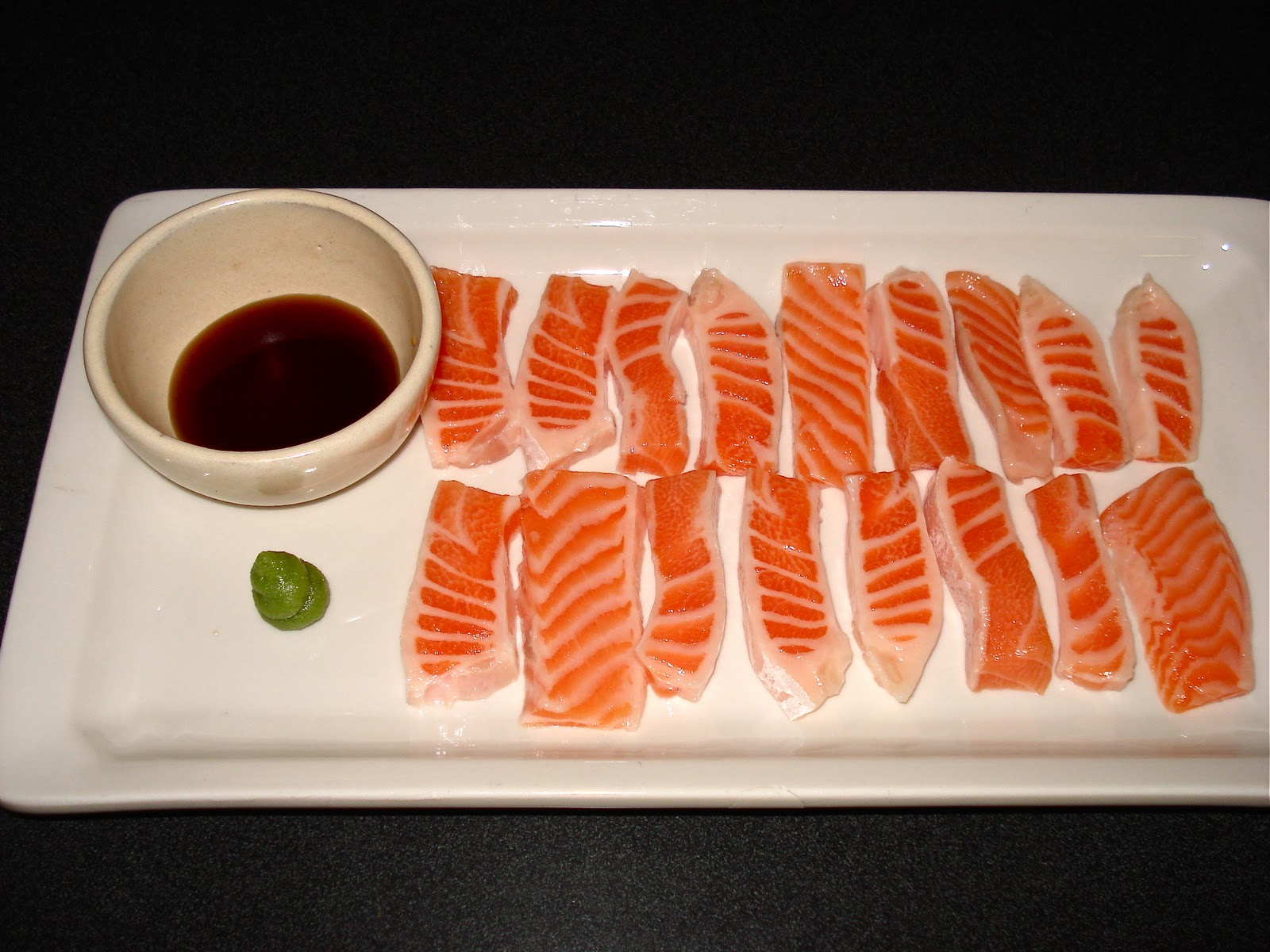 Behind The Burners: SALMON BELLY SASHIMI