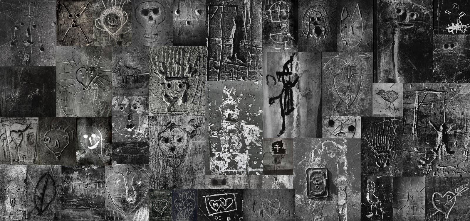 Todos lo grafittis que aparecen en este muro fueron fotografiados por Brassai. Puesto que la mayoría de estas imágenes que circulan por internet tienen muy