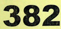 The sum of the divisors of 382 is a square: 1 + 2 + 191 + 382 = 576 = 242.