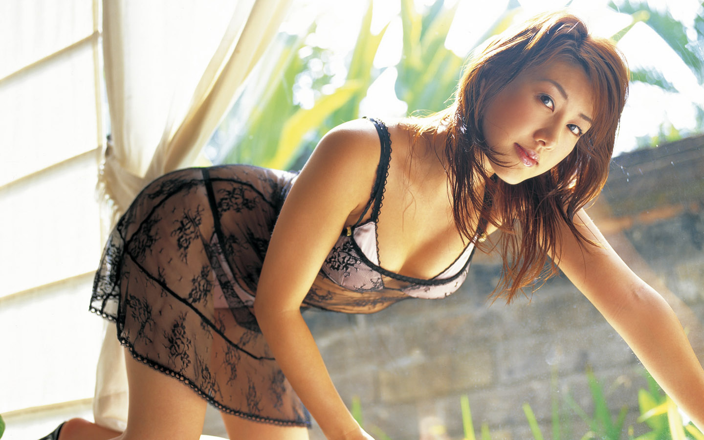 Asian Girl Sexy Lingerie Wallpaper. Categorie Babes