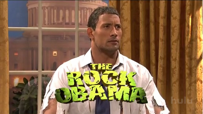 the rock, obama, snl, barack
