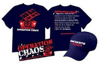 operation chaos, shirts, merchandise, caps