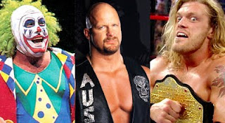 glenn beck, doink, stone cold, edge, wwe