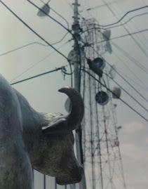 Escultura electrificada