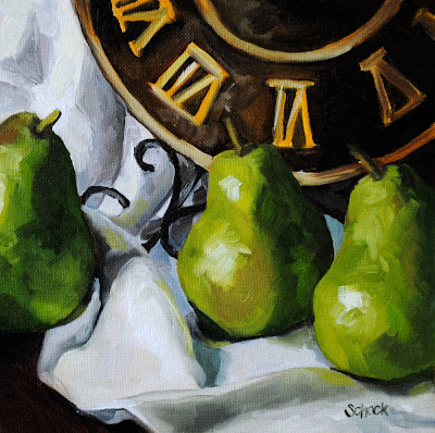 pear still life by Sharon Schock