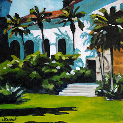 Santa Barbara courthouse painting