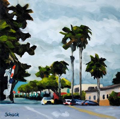 Rainy City Oil Painting
