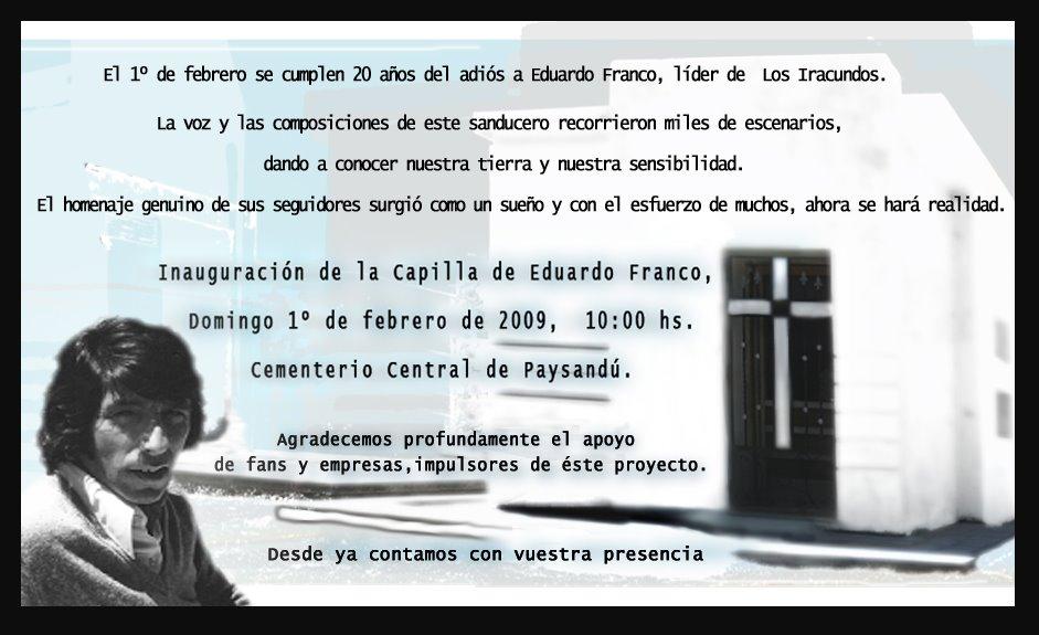 INVITACION  CAPILLA A EDUARDO  FRANCO