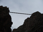 Royal Gorge bridge from canyon floor 2009
