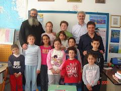 Ο Νομάρχης Δωδεκανήσου και ο Έπαρχος Καρπάθου στο σχολείο μας.