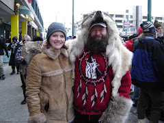 My friend I made at the 2008 Iditarod