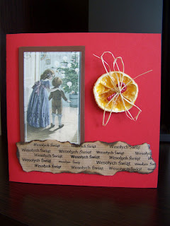 Christmas cards - red&brown 4