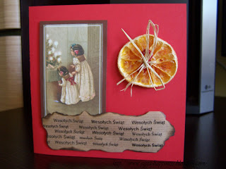 Christmas cards - red&brown 5