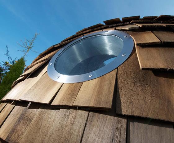 Rustic Western Red Cedar Wood Shingles Spherical Design