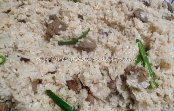 Aneeqas kitchen tehari rice with beef tehari rice with beef forumfinder Gallery
