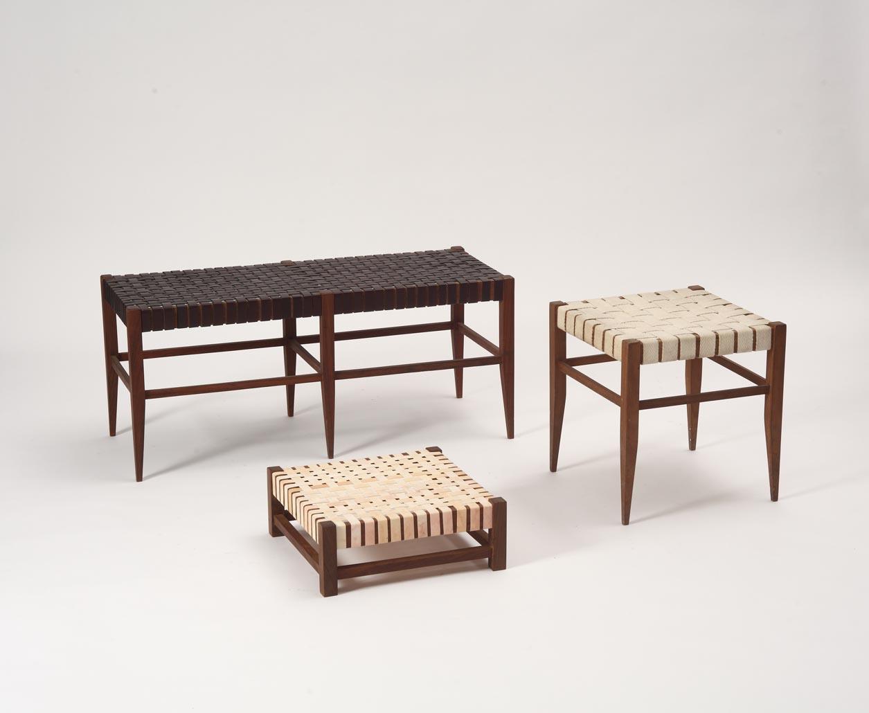 Net muebles - Alejandro Sticotti: Bancos tejidos