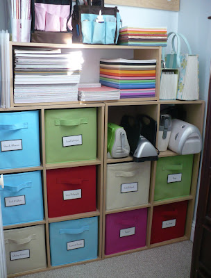 This Is My Little Space In My Closet I Have Made For My Scrapbooking  Supplies. I Love These ClosetMaid Storage/shelf Units. The Collapsible  Fabric Cube Bins ...