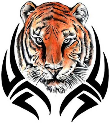 People also prefer tribal tiger tattoos to be put on the arm or across the