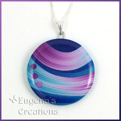 polymer clay and resin pendant