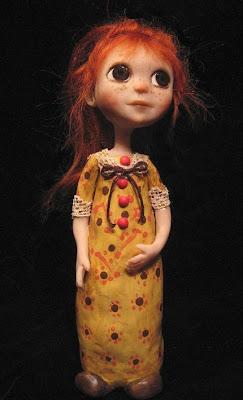 polymer clay, art doll