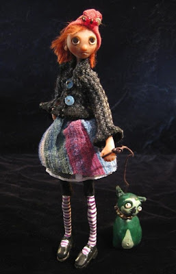 polymer clay, art doll