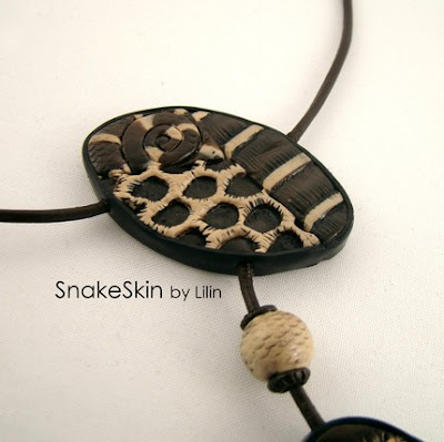 polymer clay faux snake skin