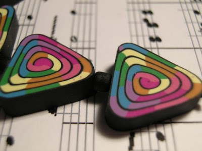 polymer clay swirly beads