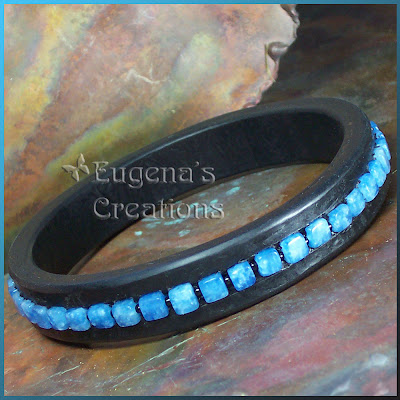 polymer clay and Russian amazonite bracelet