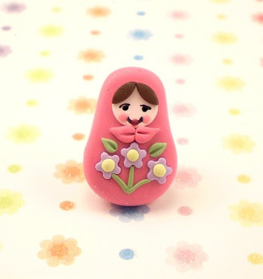 polymer clay Matrioshka bead