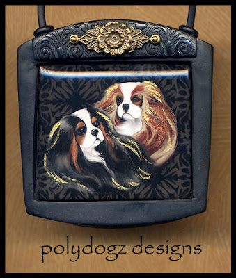 polymer clay dog pendants