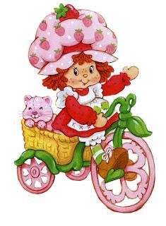 moranguinho bicicleta 01 797659 Imagens da Moranguinho Clássica para decoupage para crianças