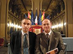 доц. Иван Боев и д-р Семов при връчването на френските дипломи в Нанси