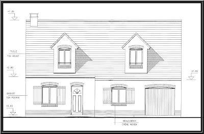 Wimereux c teopale maison vendre dessin de la fa ade for Dessin maison 3d