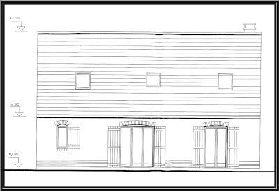 wimereux c teopale maison vendre dessin de la fa ade arri re de la maison. Black Bedroom Furniture Sets. Home Design Ideas