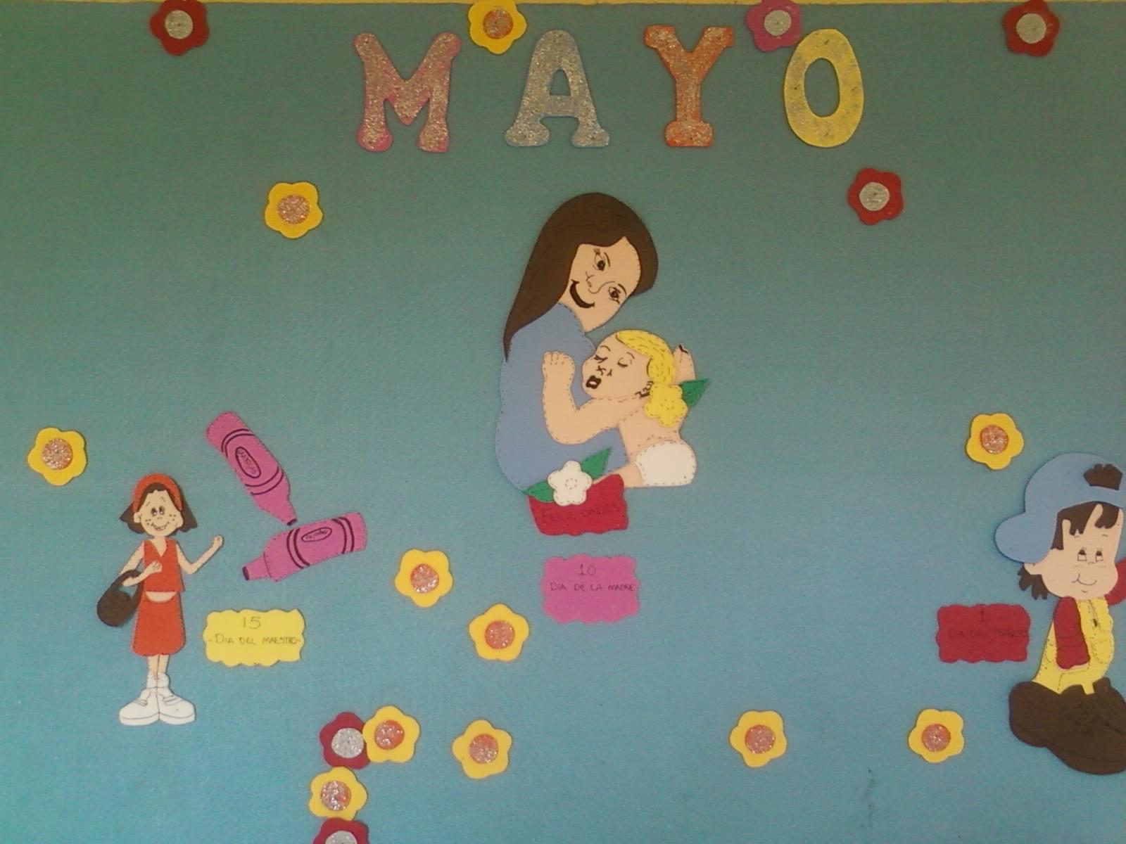 Mural de Kinder correspondiente al mes de Mayo