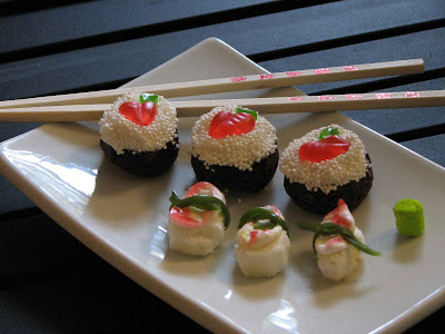 sushi+6 sushi cupcakes