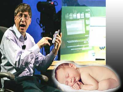 Bill Gates registrar bebés