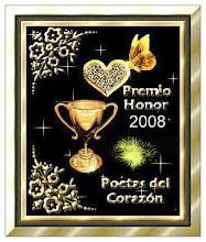 """Premio Honor 2008 - """"Poetas del Corazón"""""""