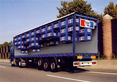 Creative Pepsi ads - Pepsi truck