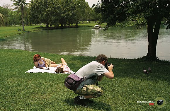 Funny ads: Wide angle lenses