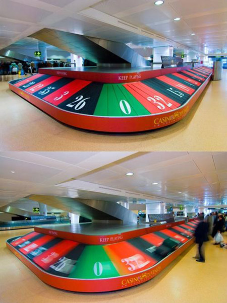 Most clever ads in airports - Roulette