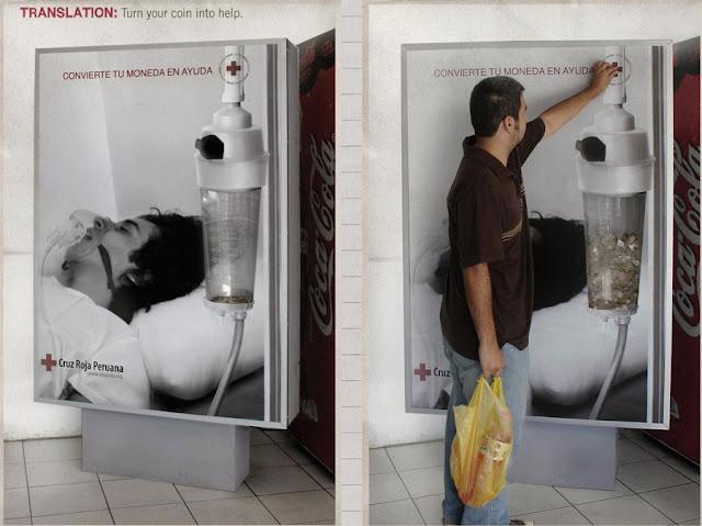 Creative money advertising