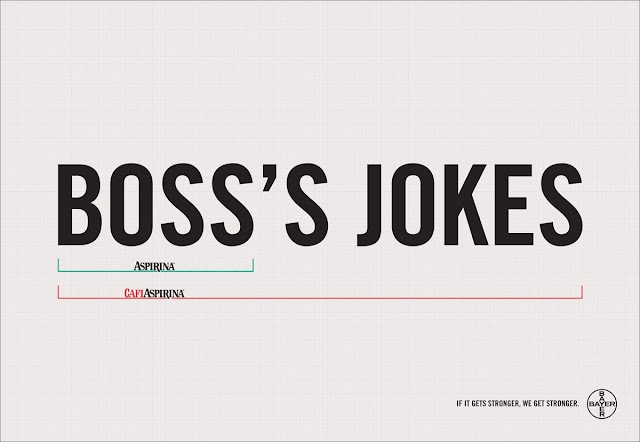 Bayer aspirin creative ad - Boss's jokes